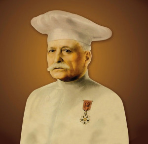 "Auguste Escoffier, the legendary French chef known as the ""king of chefs and chef of kings"""