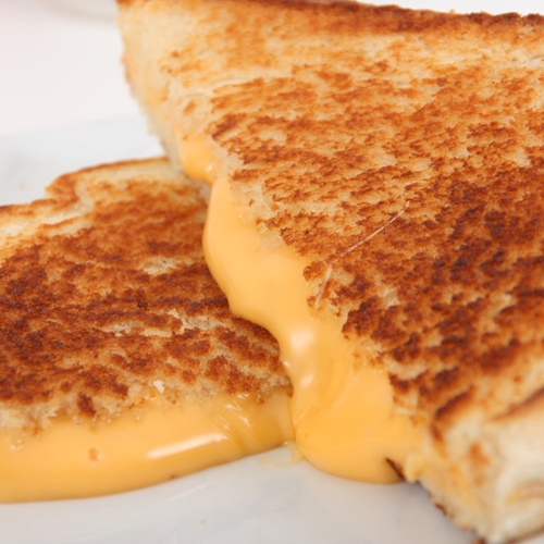 The superior melting qualities of American cheese make it ideal for grilled cheese sandwiches.