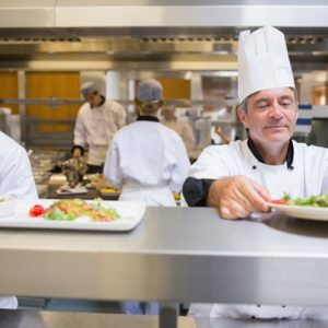 The garde manger is in charge of cold dishes, and often makes the first dish guests see.
