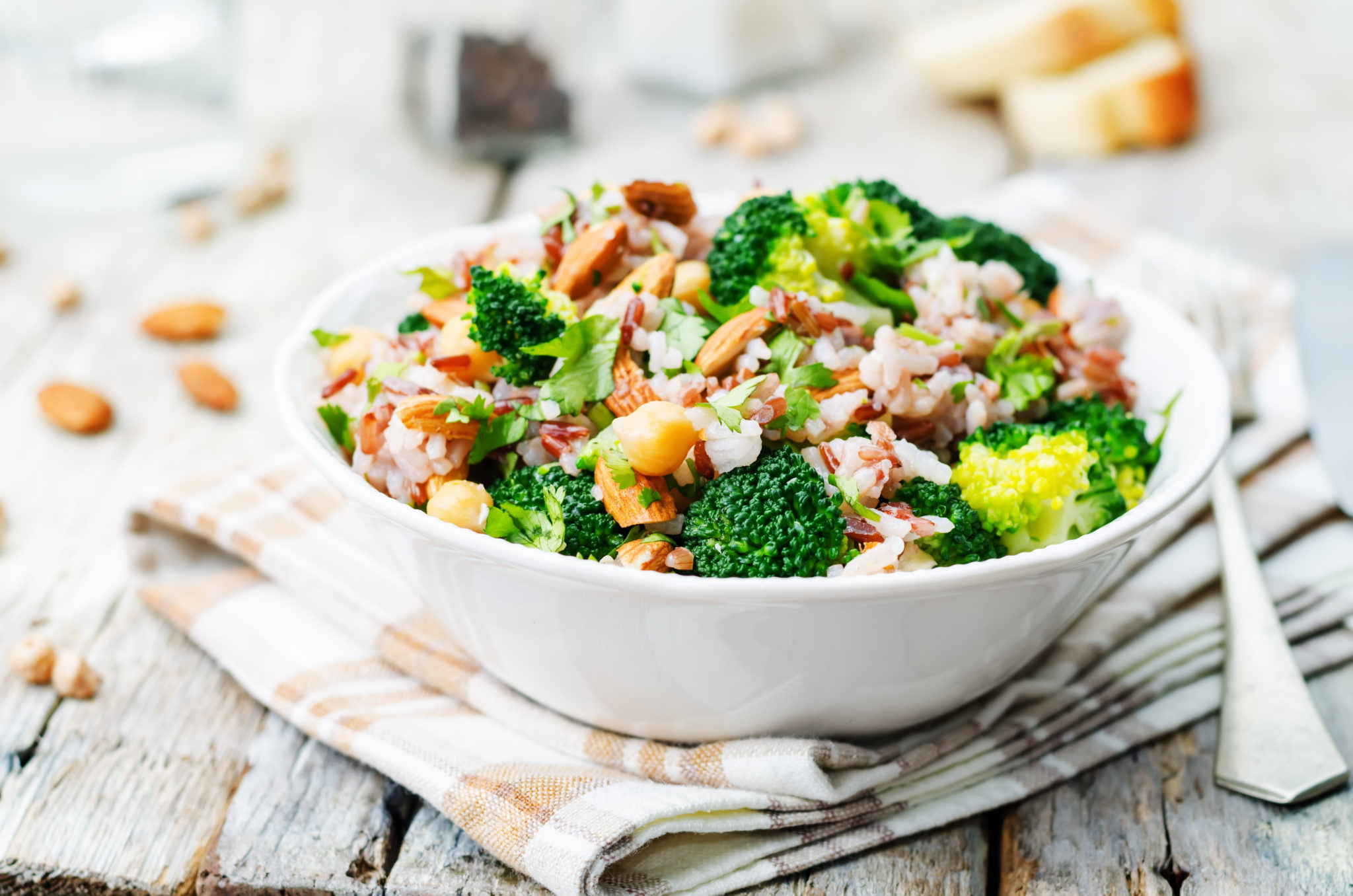 A simple broccoli salad can be the perfect lunch.