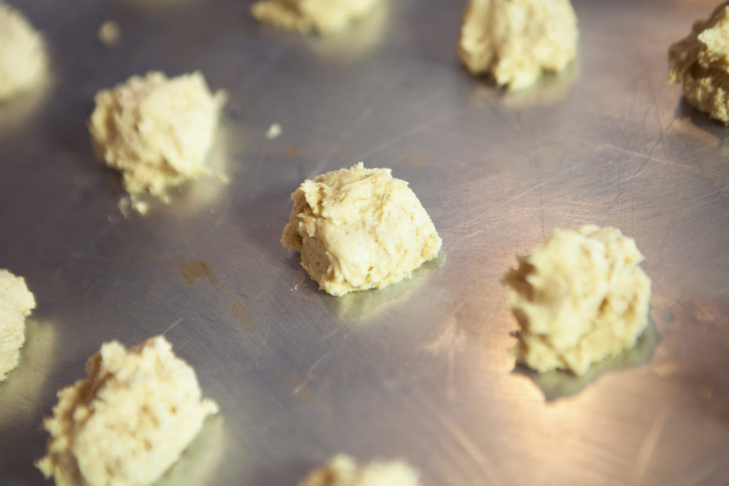 This cookie uses a standard sugar cookie batter with a twist.