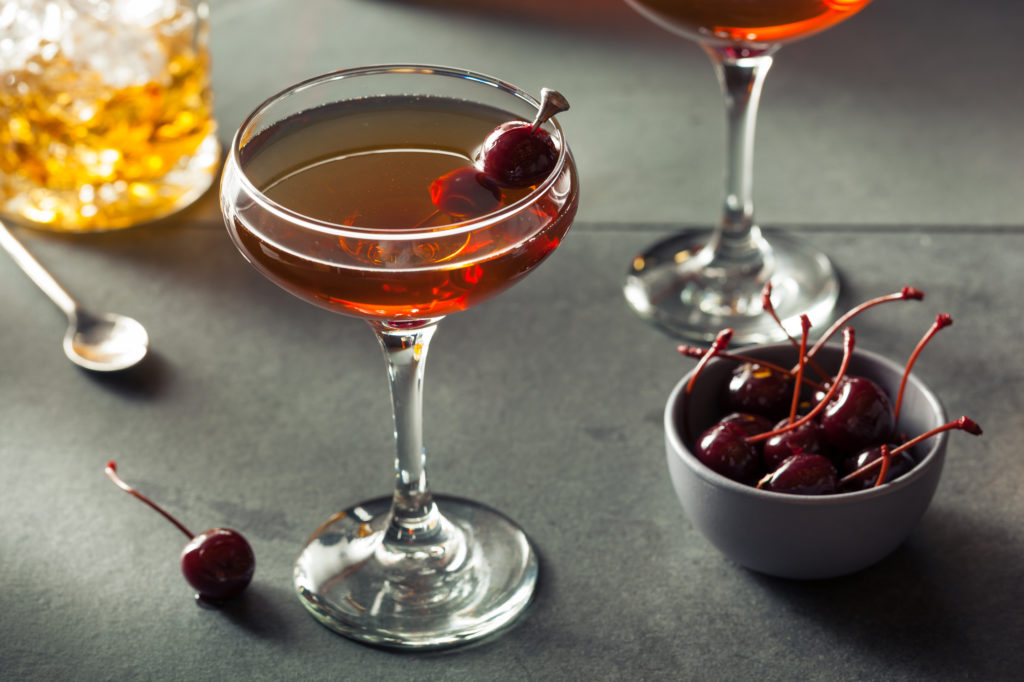 The Manhattan is a great example of a classic cocktail that features bitters.
