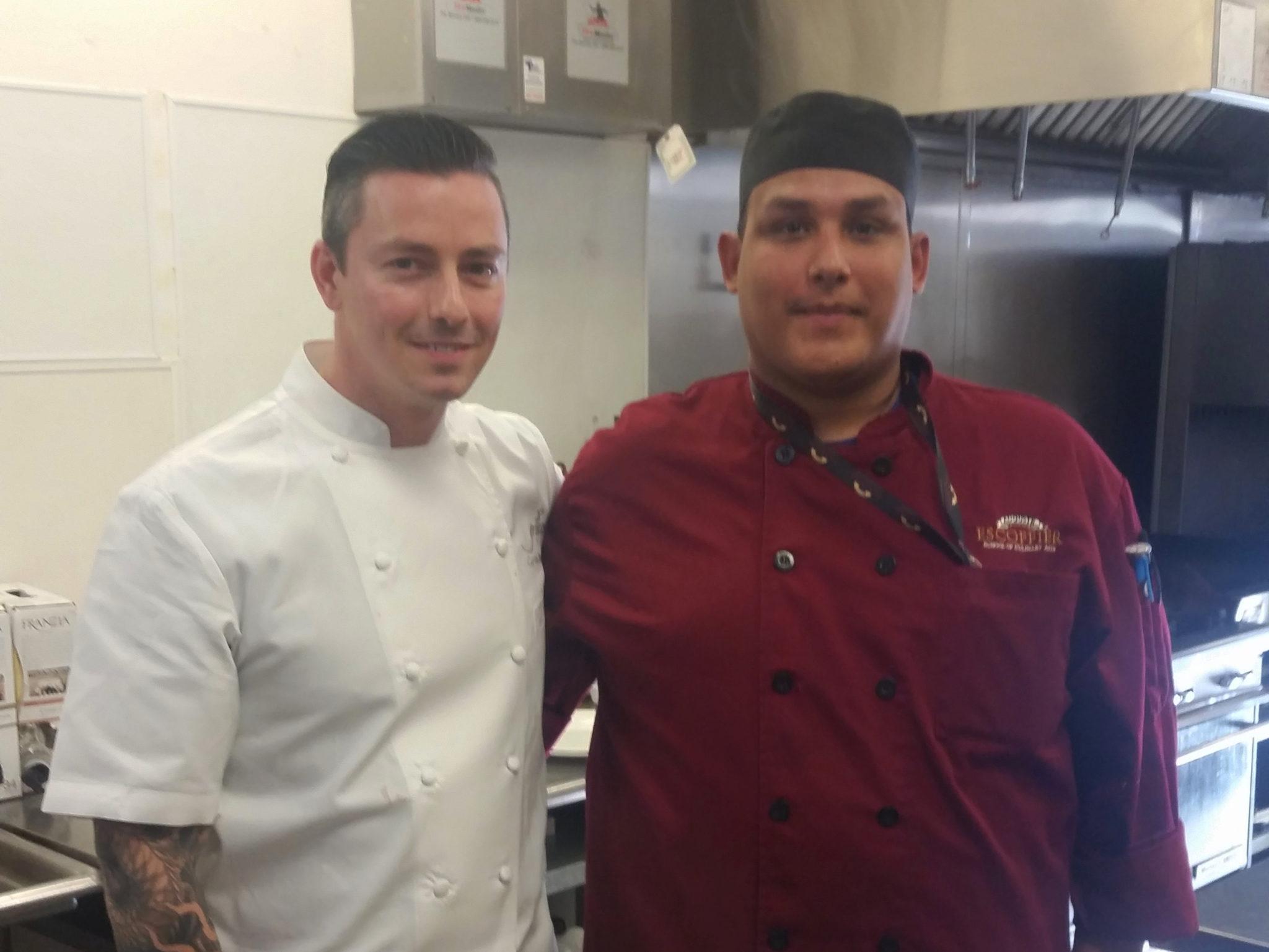 Pedro Gandara with celebrity chef, Curtis Duffy.
