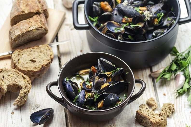 Bivalves include popular seafood like mussels, clams, scallops and oysters.