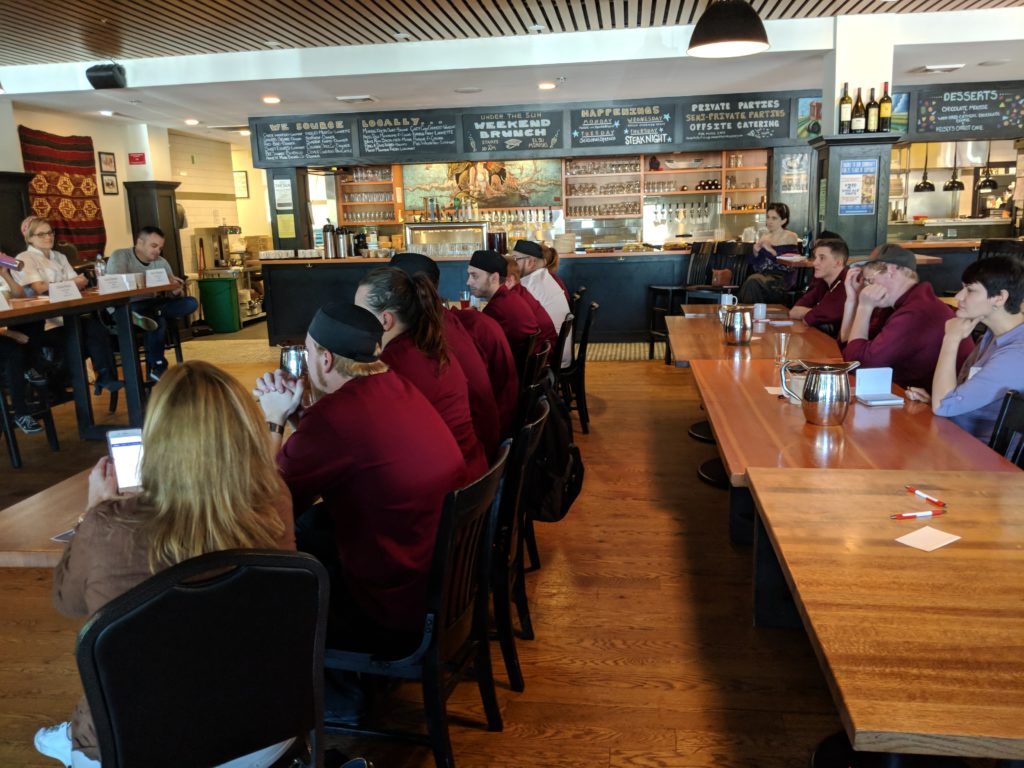 Alumni and students of Escoffier-Boulder got to hear a number of prominent local chefs provide career insight.