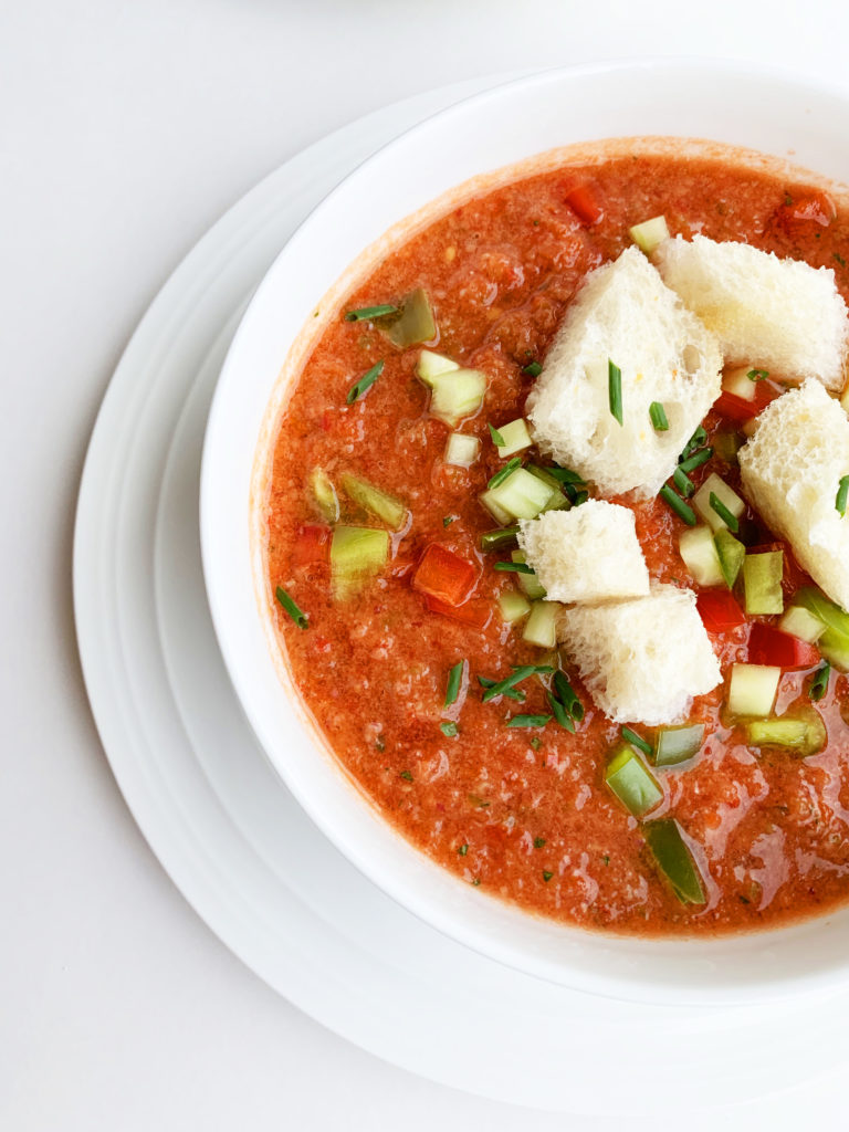 Gazpacho is a great dinner idea for hot summer days.